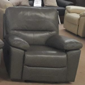 Charlotte 3+1+1 Fully Reclining Leather Suite - Grey