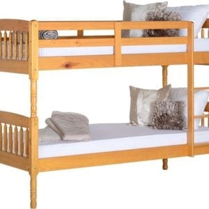 Alex 3' Bunk Bed - Honey Pine