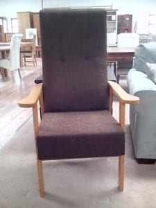 Brown Fabric Highback Chair