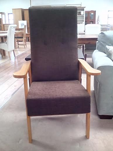 Brown Fabric Highback Chair