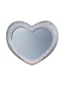 Champagne Heart-Shaped Mirror