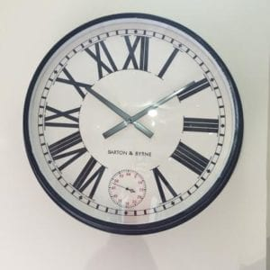 Barton & Byrne Large Wall Clock