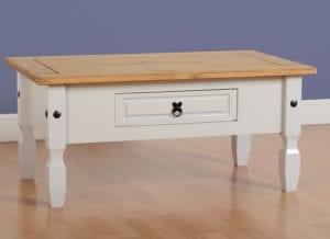 Corona 1 Drawer Coffee Table - Grey