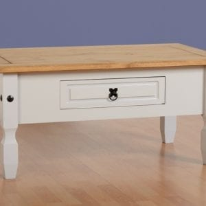 Corona 1 Drawer Coffee Table - Grey