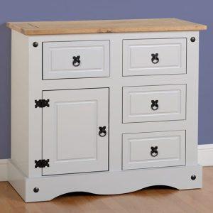 Corona 1 Door 4 Drawer Sideboard - Grey