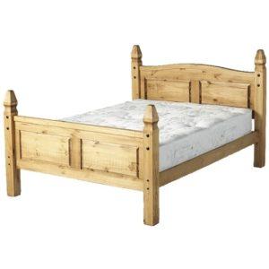 "Corona 4'6"" Princess Bed Frame - High Foot End"