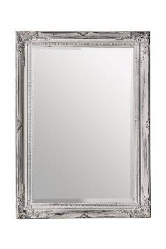 Distressed Wall Mirror - White