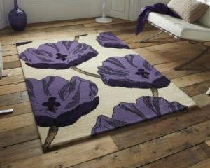 Elements - Purple/Cream - 150 x 230