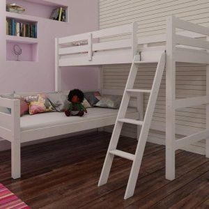 Eric Corner Bunk Bed - Honey Pine
