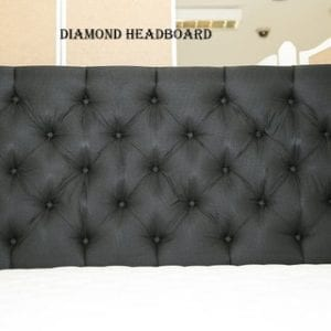 Diamond Buttoned Back Headboard - King Size