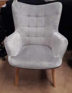 Kayla Fabric Chair - Blue