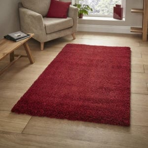 Loft Shaggy Rug - Red