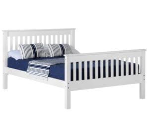 Monaco White Bed Frame - Double
