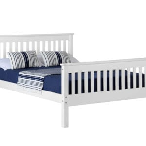 Monaco White Bed Frame - Double