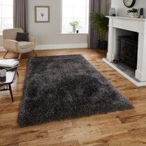Montana Shaggy Rug - Dark Grey