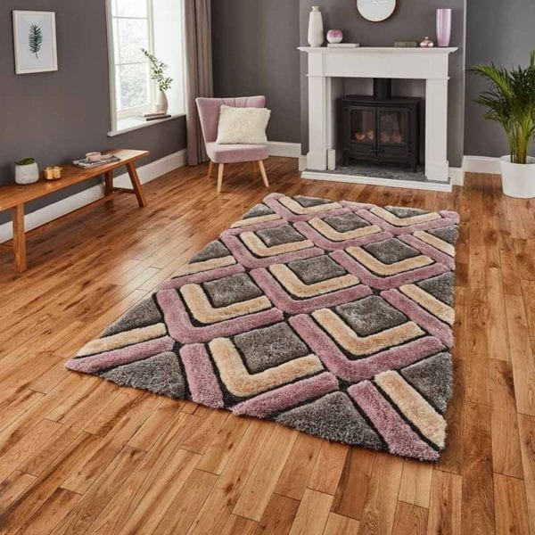 Noble House Rug - Rose/Grey