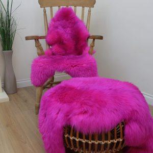 Sheepskin Rung -Hot Pink