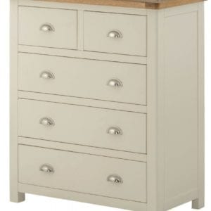 Portlaois 2+3 Chest Of Drawers - Cream & Oak