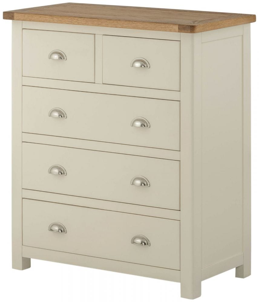 huge selection of 405f9 5d994 Portlaois 2+3 Chest Of Drawers - Cream & Oak