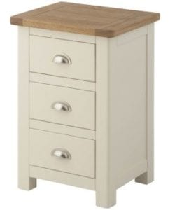Portlaois Bedside Tables - Cream & Oak