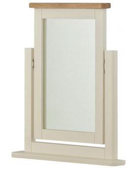 Portlaois Dressing Mirror - Cream & Oak