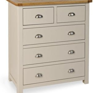 Portlaois 2+3 Chest Of Drawers - Stone Grey