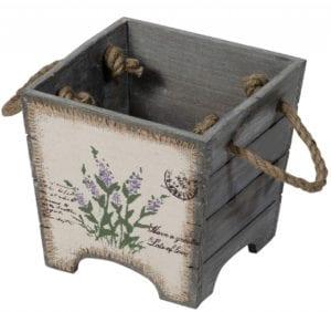 Lavender on Hessian Wooden Housekeeper