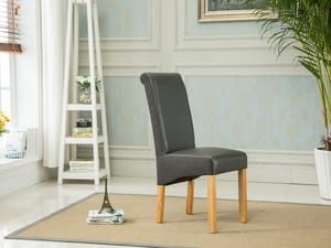 Charlene Dining Chair - Grey/Grey Fabric