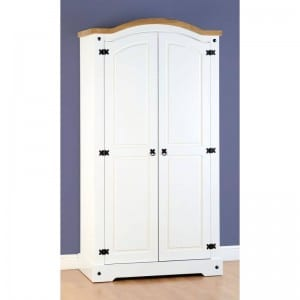 Corona White 2 Door Wardrobe