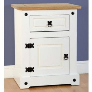 Corona White Bedside Locker