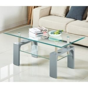 Frankfurt Glass Coffee Table - Grey