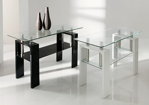 Frankfurt Glass Console Table - White