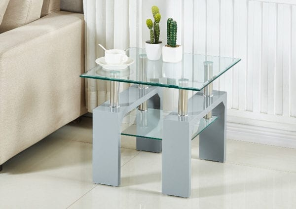 Frankfurt Lamp Table - Grey