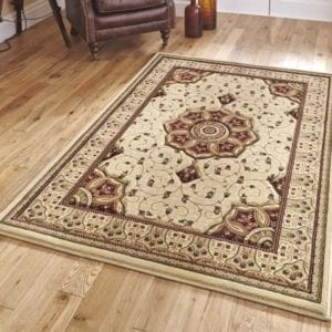 Heritage Rug - Cream/Red