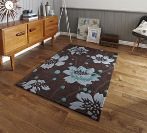 Hong Kong 1512 Brown/Blue Rug