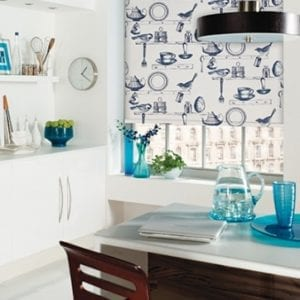 On The Shelf Porcelain - Roller Blind