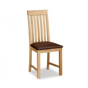 Trinity Brown Pu Dining Chair